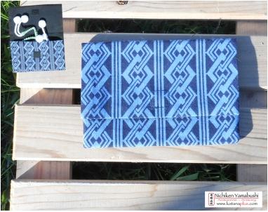 JUZU case:  Tissu Kimono Bleu